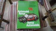 REVUE AUTOMOBILE NUMERO CATALOGUE 1974 AUTOMOBIL REVUE KATALOGNUMMER