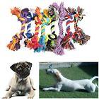 Color Random Pet Chew Knot Toys Teeth Training Cotton Rope Braided Bone Shape