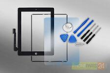 Ipad 3/4 digitalizador pantalla táctil frontal de cristal + marco + lámina + herramienta negro