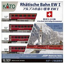 Kato N Gauge Alps Rouge passager EW I 4 de Base Set 10-1413 Modèle Railroad