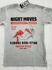 DOPE brand Night Moves T-shirt Men's XL Heather Gray New with Tags D18FW-T33