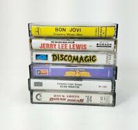 x6 Cassette Tape Lot Donna Summer Dean Martin Bon Jovi Duran Duran Jerry Lee Lew