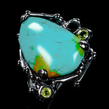 Handmade Natural Turquoise 925 Sterling Silver Ring Size 8.25/R112219