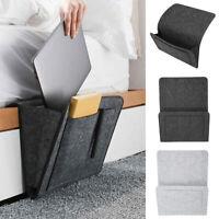 Hanging Bag Bedside Storage Organizer Bed Felt Pocket Caddy Sofa Phone Holder US