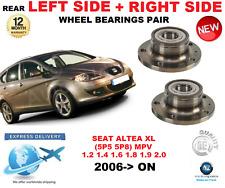 Para Seat Altea XL Rodamientos Rueda Trasera Par 2006>en MPV Lado Izquierdo y