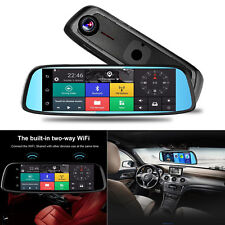 8'' 4G Touch Autos DVR Camera Rearview Mirror GPS Bluetooth Wifi Video Recorder