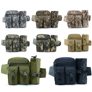 Tactical Waist Bag Fanny Pack,Waterproof Utility Belt with Water Bottle Holder