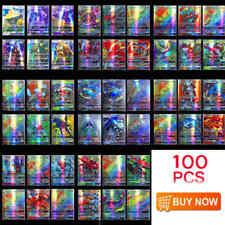 100Pcs/Pack 95 Gx + 5 Mega Pokemon Cards Holo Flash Trading Card Mixed Lot Gift