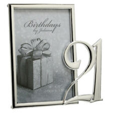 """NEW Silverplated 21st Birthday Photo Picture Frame 4"""" x 6"""" Gift Present Keepsake"""