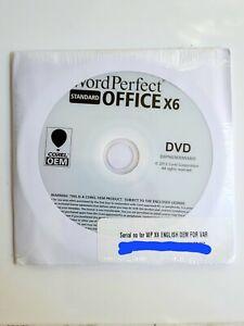 Corel WordPerfect Office X6 Standard 3 Pack BRAND NEW SEALED