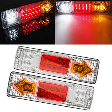 2x 24V 19 LED RV Car Truck Trailer Rear Tail Brake Reverse Turn Indicator Light