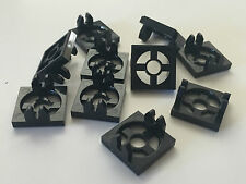 *NEW* 10 Pieces Lego BLACK MAGNET HOLDER TILE 2 x 2 x 1/3