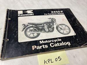 Kawasaki Z650 F2 F3 Z650-F catalogue pièces détachées spare parts list Z KZ 650