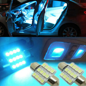 1Pair 31mm 12smd LED DE3175 Bulbs For Car Interior Dome Map Door Lights Lamps.