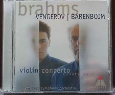 Fabulous Vengerov Brahms Violin Concerto CD Sonata Chicago Barenboim Stunning
