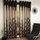 Polyester Eyelet Door Curtains ,7ft (Set of 2)(Brown) Fedex SHIP