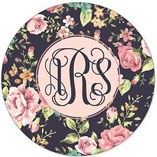 Monogrammed Mouse Pad - Pretty Floral Roses Personalized Custom Gift Monogram