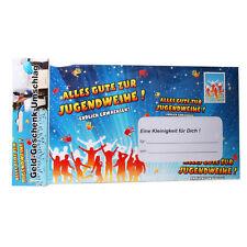 XXL Geldgeschenk Umschlag Karte Jugendweihe Endlich erwachsen 121214113