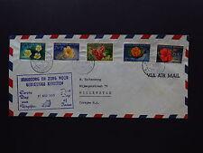 FDC Nederlandse Antillen Curacao Willemstad Flowers Bloemen 1955 Air Mail