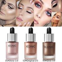 6 Colors Liquid Concealer Highlighter Makeup Face Glow Shimmer Illuminator Oil