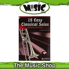 New 15 Easy Classical Solos for Trombone BC or TC Music Book & CD