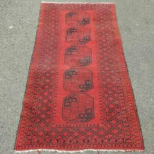 "Antique Turkemen Tekke Bokhara Rug 6'7"" x 3'3"" (200x100cm Carpet Afghan)"