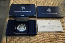 1987 US Constitution Proof Silver Dollar Coin, COA in Original Box