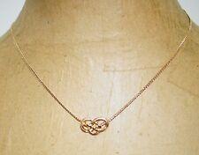 """Vintage Avon Celtic Knot Choker Pendnat 16"""" Chain Necklace"""