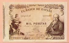 España Billete del año 1886 edición facsimil (CO-498)