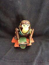 Vintage Wind Up Toy Monkey tin metal