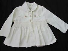 BURBERRY baby girls 18m white cotton linen jacket coat smocked So CUTE
