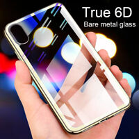 6D Tempered Glass Shockproof Hard Slim Case Cover For iPhone XS Max XR 7 8 Plus