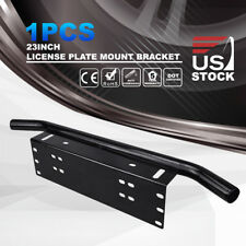 "23"" Bull Bar Front Bumper License Plate Mount Bracket Holder LED Light Off Road"