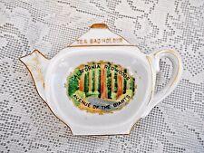 Vintage CALIFORNIA REDWOODS Teapot Shaped Ceramic Teabag/Tea Bag Caddy/Holder
