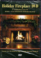 HOLIDAY FIREPLACE: VIRTUAL CHRISTMAS DVD w/ INSTRUMENTAL JAZZ & KIDS SING-ALONGS