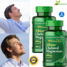 ALBION CHELATED MAGNESIUM GLYCINATE 400mg CHELATE DEPRESSION SUPPLEMENT 200 CAPS