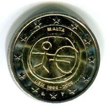 MALTA: 2 EURO coin 2009 10 Years EMU Birth of Euro UNC bimettalic 2 €