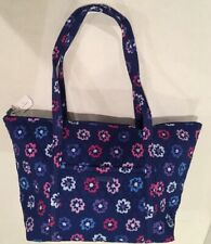 7ccea742fc Vera Bradley MILLER BAG Ellie Flowers Travel Zip Tote Overnight Duffel 15688