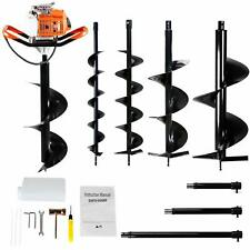 63cc Earth Auger 2 Stroke Gas Powered One Man Post Hole Digger Machine Or 4 Bits