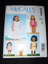 """18"""" Doll New McCalls 7612  604 Pattern Swimsuits Dresses Fits American Girl"""