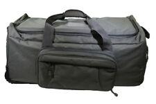 Tactical Gear Wheeled Duffel Bag And Pack Reinforced Handles Black