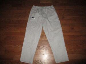 Mens Chefwear Black White Plaid Restaurant Chef Kitchen Pants Sz. XL