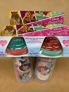 Princess Insulated 9oz Sippy Cups BPA Free Set Of 4
