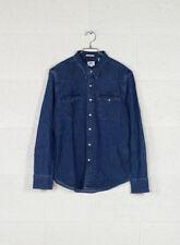 Levi's Barstow Western Camicia Uomo Blu (brooklyn Stretch Mid 0254) (p8y)