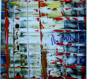 GERHARD RICHTER  >Abstraktes Bild 1992< HAND-SIGNIERT, signed,  mit Rahmen