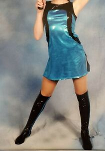 Girl's Dance Costume - Curtain Call - Jazz/Tap Electric Blue Dress, Hat, & Boots