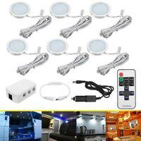 6x 12V LED Down Light Cabin Ceiling Lamp Caravan/Camper/Trailer/Car/RV White