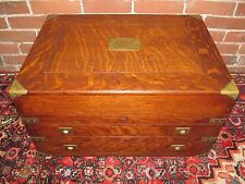 RARE BRASS MOUNTED VICTORIAN OAK SILVER STORAGE CHEST-ABSOLUTE BEST!
