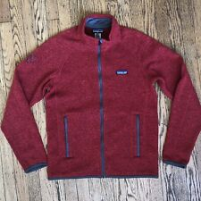 Patagonia Mens Better Sweater Size Small Red Full Zip Fleece Jacket Long Sleeve
