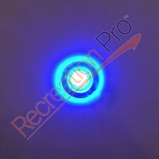 4 ROUND BLUE LED LIVEWELL COURTESY LIGHTS MARINE BOAT RV 12V WATERPROOF